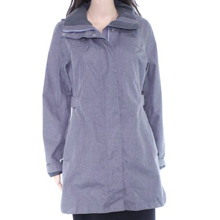 Womens Jacket Small Trench Raincoat Ful-Zip S
