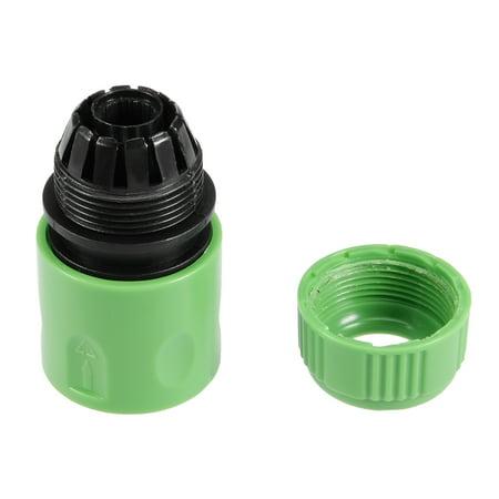 Unique Bargains 1/2BSP Garden Faucet Water Pipe Adapter Tap Hose Quick Connector Green 5pcs - image 2 de 6