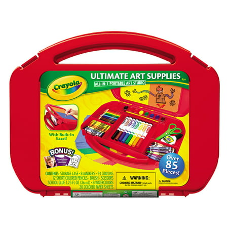 Crayola Ultimate Art Supplies and Easel with 85 Pieces, Ages 4 and Up