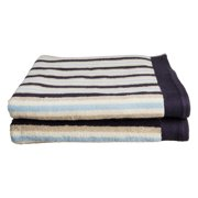 Impressions Tiana Striped Combed Cotton 2-Piece Bath Towel Set