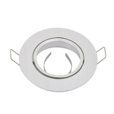 Unique Bargains 85mm Diameter Ceiling Light Bracket Downlight Holder Adjustable Sliver Tone Ceiling Light Bracket