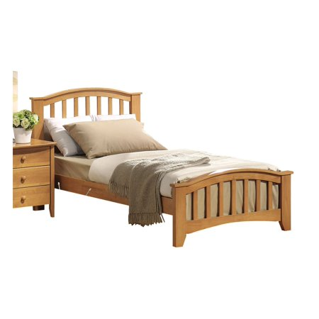 Solid Wood Kids Beds (Simple Relax 1PerfectChoice San Marino Youth Kids Bedroom Full Simple Bed Solid Wood In Maple 1 X Full Size)