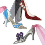 Gloria Duchin 3pc Ladies' Shoe Ornament Set