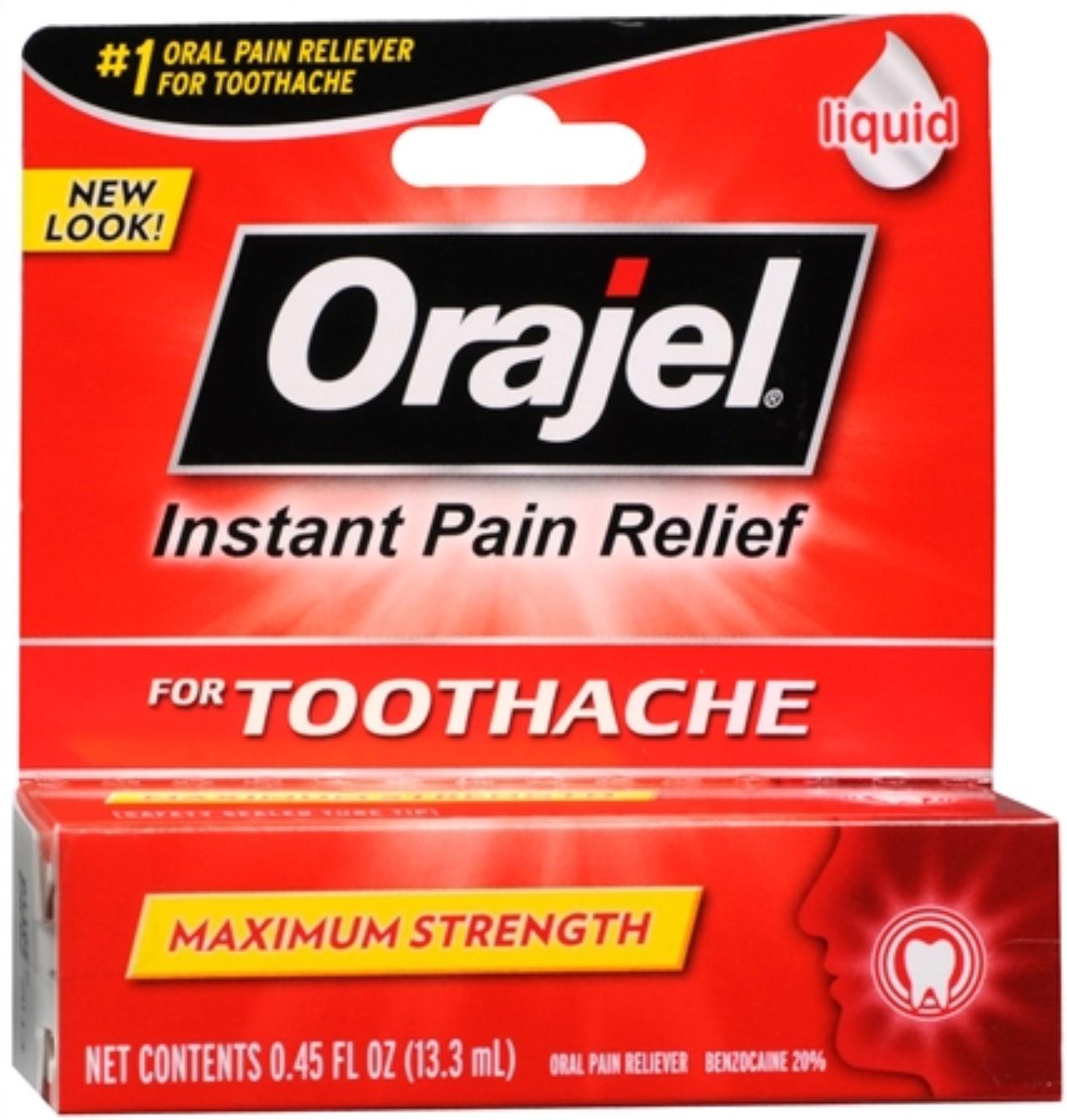 Orajel��� Maximum Toothache & Oral Pain Relief Liquid 0.45 fl. oz. Peg