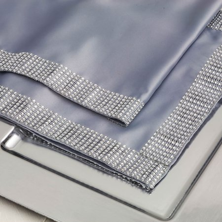 Quasimoon Silver Diamond Mesh Table Runner (12 x 72) by PaperLanternStore (Rhinestone Mesh Runner)