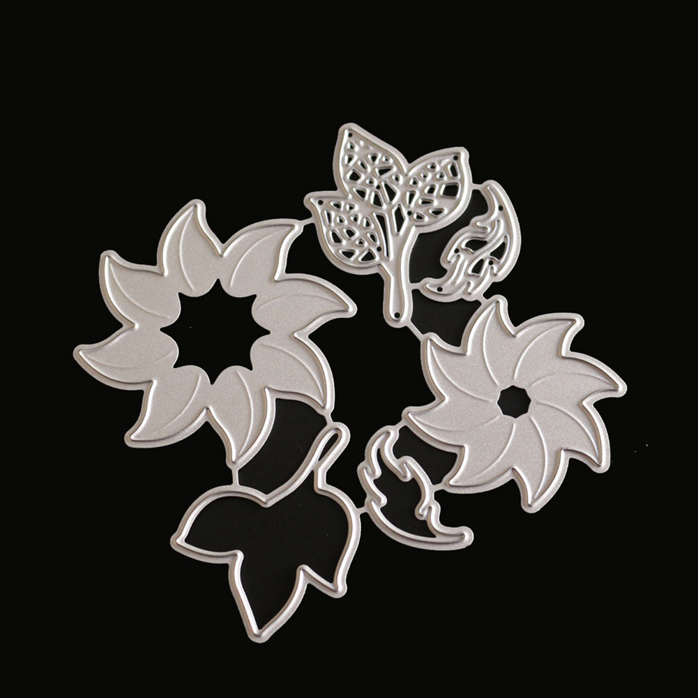 All clearance Flower & Leaves Combination Carbon Steel Cutting Dies Set Knife Mold Stencils DIY Scrapbooking Die Cuts Decor Crafts Embossing Templates Art Cutter
