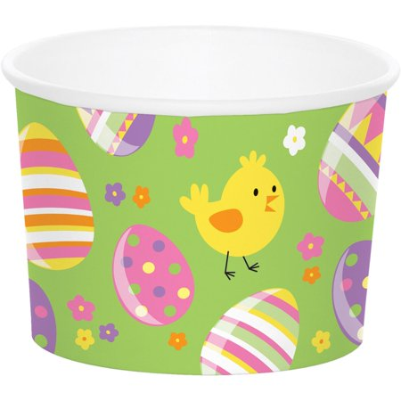 (Pack of 72 Green and Yellow Easter Egg Themed Cylindrical Tea Cup 8.5
