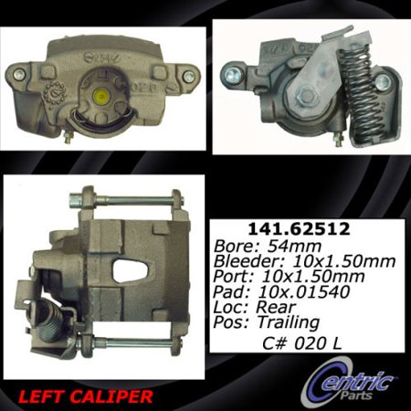 Centric Brake Disc - Centric Parts Disc Brake Caliper P/N:141.62512