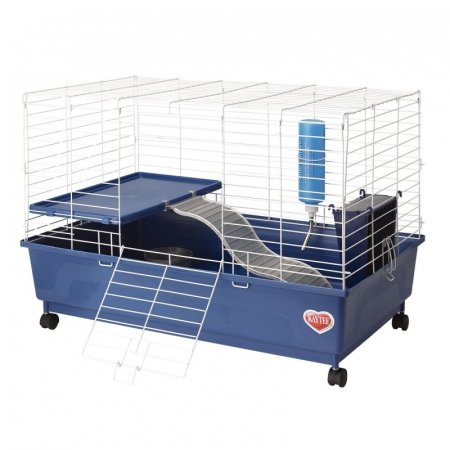 Kaytee My First Home Deluxe Guinea Pig 2 Level Cage With Wheels   30  Long X 18  Wide