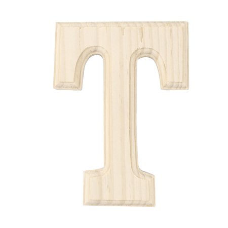 Home Bedroom Wooden Decor English T Letter Alphabet Free DIY Wall Wood Color - image 1 de 1