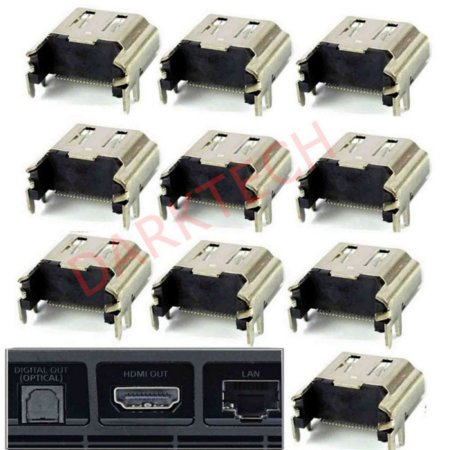 10 Butt Connector - 10 Pcs HDMI Port Socket Connector New Replacement for Sony PlayStation 4 Console