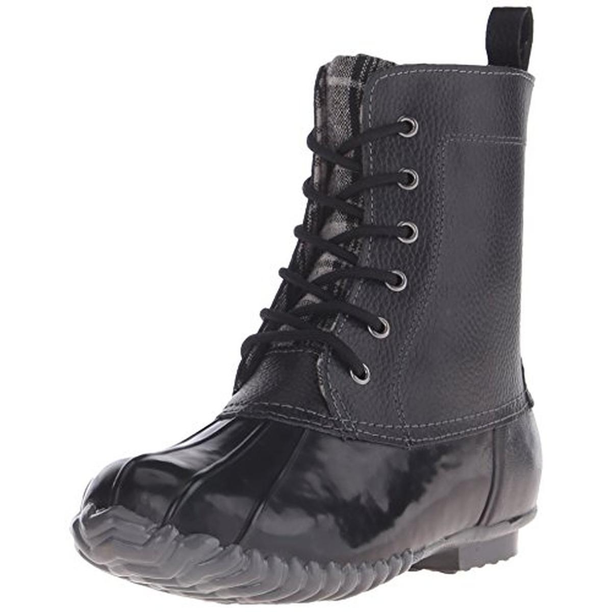 Sporto Womens Jessica Leather Ankle Snow Boots