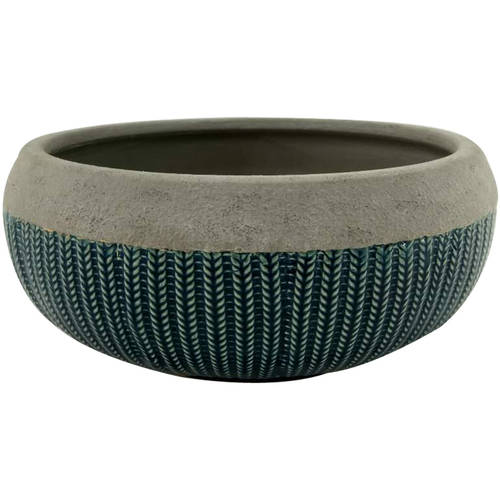 "Better Homes & Gardens 12"" Teal Brookmonte Planter"