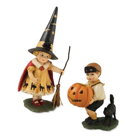 Bethany Lowe TD4023 Little Halloween Trick or Treater Set/2 New