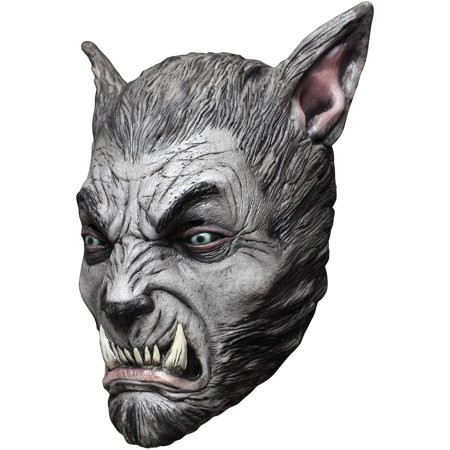 Silver Beast Wolf Latex Mask Adult Halloween Accessory