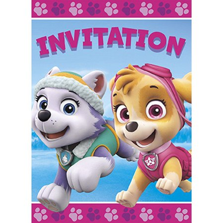 Paw Patrol Party Supplies 16 Pack Invitations