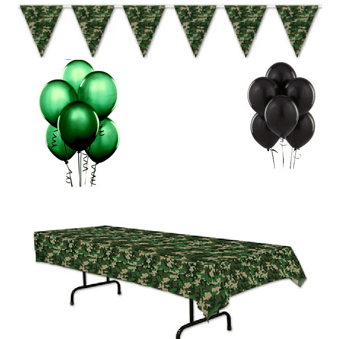 Camo Party Decorations (14 Piece Set)