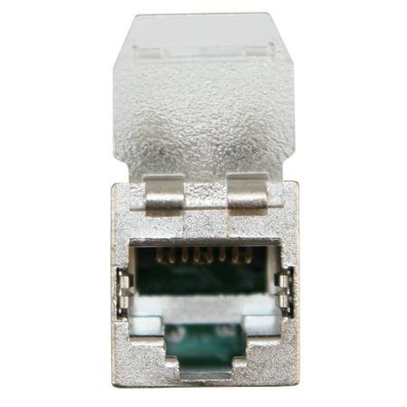 AMP Tyco 1711160-1 NETCONNECT XG AMP-TWIST SL 6S CAT6A Shielded RJ45 Jack, F/UTP, Dust Cover,