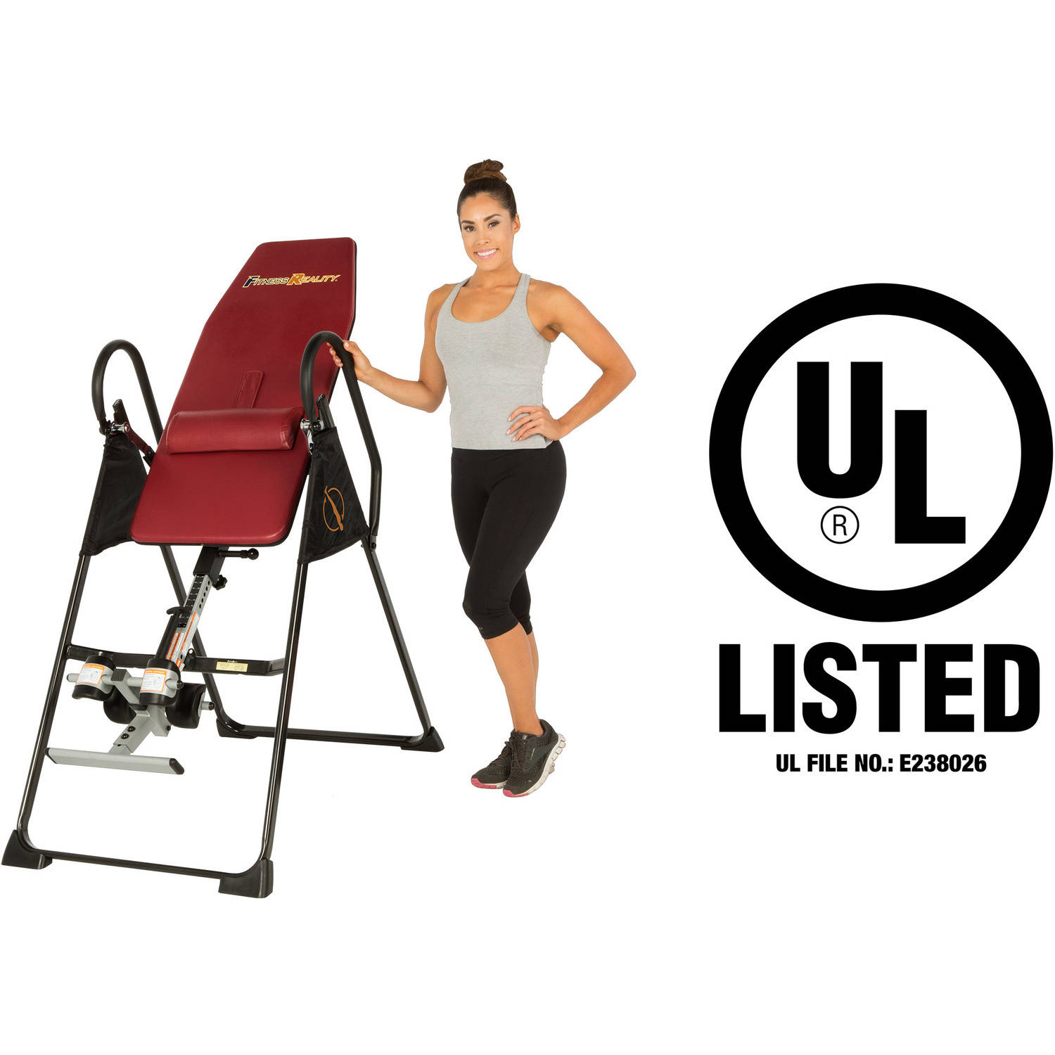 Fitness Reality 790XLT High Endurance Inversion Table with Lower Back Cushion by Paradigm Health and Wellness Inc