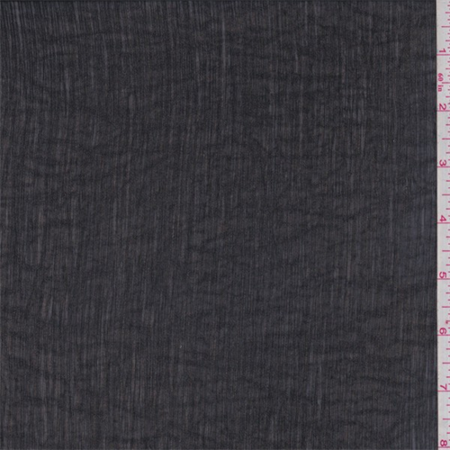 Black Polyester Crinkled Chiffon, Fabric By the Yard (Black Crinkle Paper)