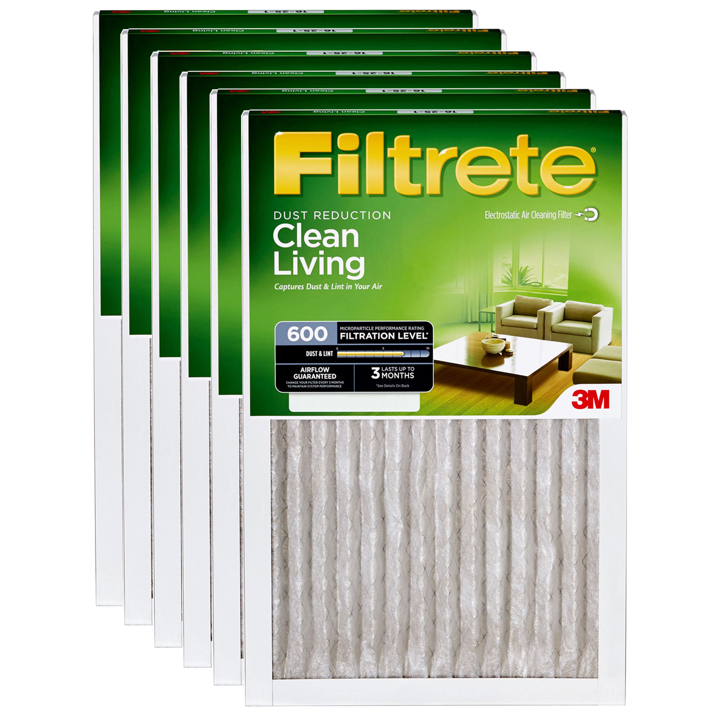 12x12x1 3M Filtrete Dust and Pollen Filter (6-Pack) by 3M