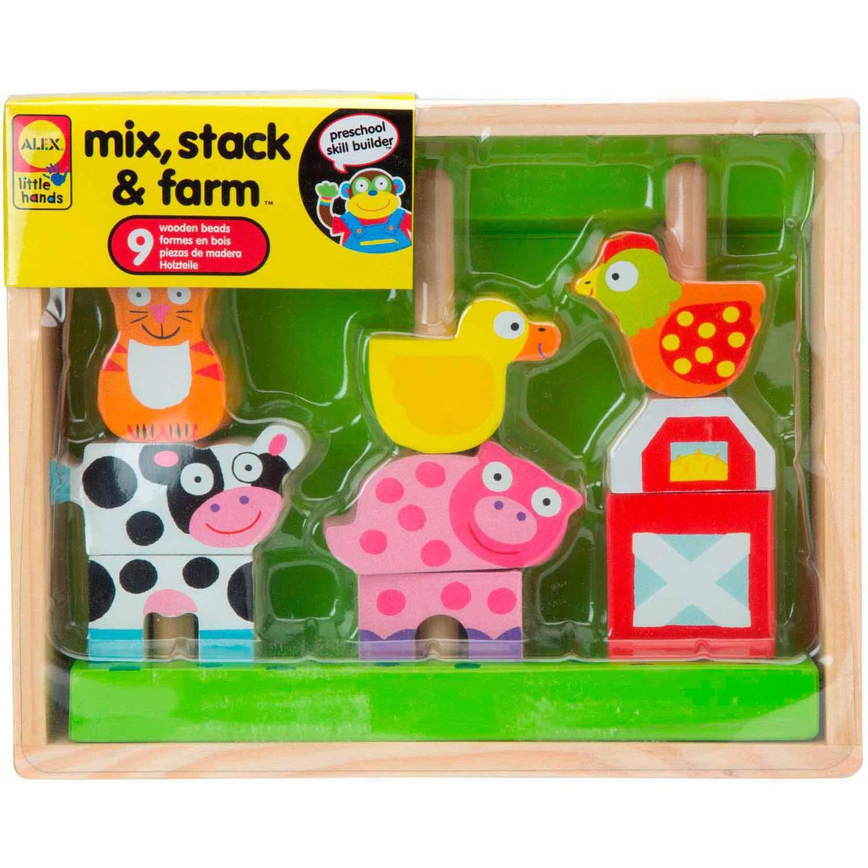 ALEX Toys Little Hands Mix, Stack & Farm