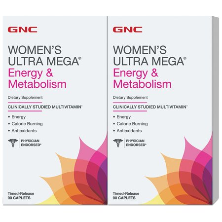 GNC Women's Ultra Mega Energy & Metabolism Multivitamin (180 (Gnu Womens Snowboard)