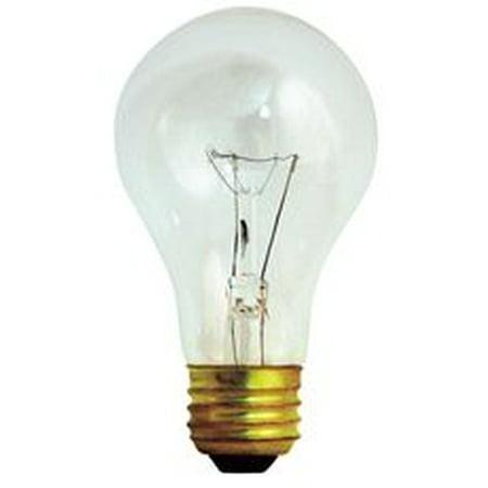 200 Watt 3 Way - Satco Incandescent Lamp A23 200 Watt, 120 Volt, Medium Base, Clear, 2,500 Average Rated Hours, 24 Per Case