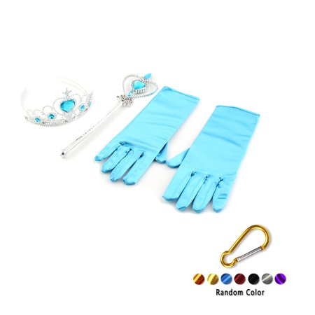 Girls Ice Queen Princess Cosplay Accessories Crown Wand Gloves Party