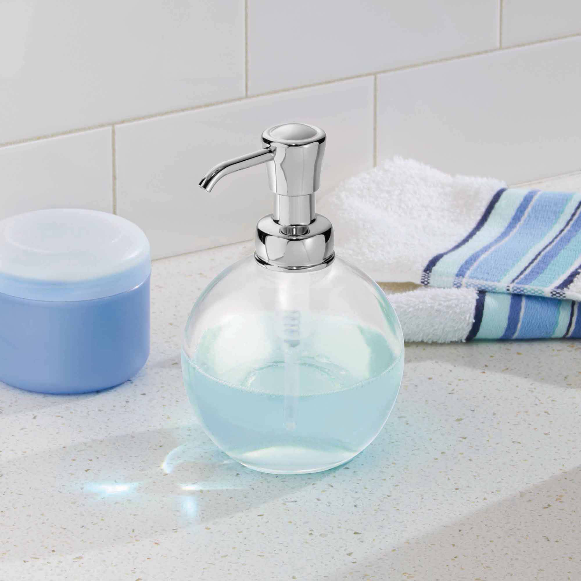 InterDesign York Glass Soap Pump