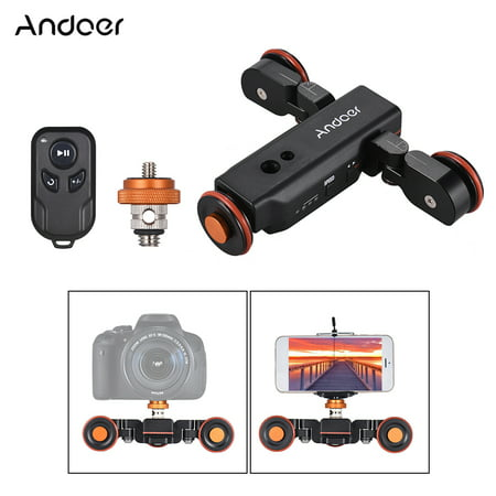 Andoer L4 PRO Motorized Camera Video Dolly with Scale Indication Electric Track Slider Wireless Remote Control/1800mAh Rechargeable Battery 3 Speed