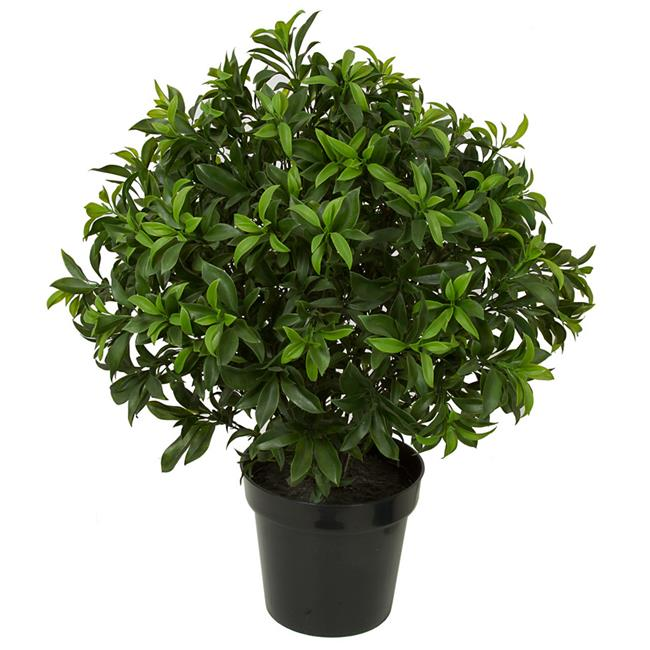 Autograph Foliages AUV-160400 29 in. UV Sweet Bay Topiary, Green