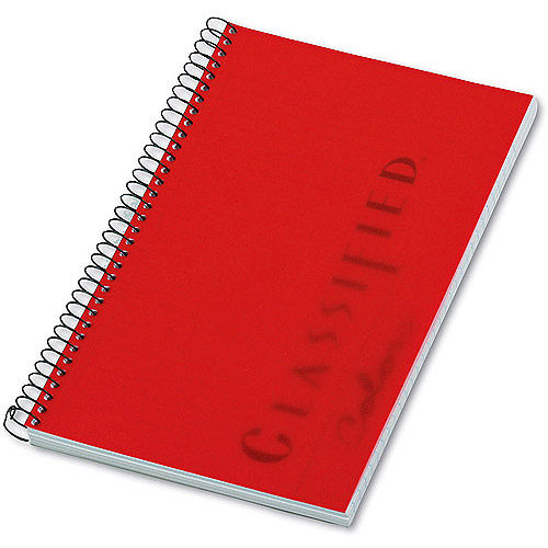 TOPS Notebook, Narrow Rule, 5-1/2 x 8-1/2, White, 100 Sheets/Pad