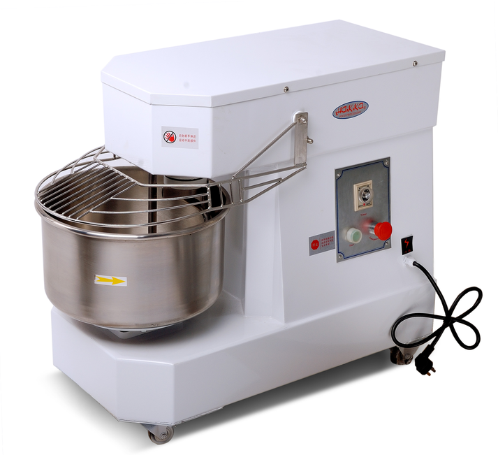 Hakka Commercial Dough Mixers 10 Quart Stainless Steel Spiral Mixer-DN10(110V/60Hz,1 Phase)