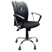 Utah Jazz NBA Curve Task Chair with Secondary Logo Panel