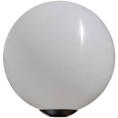 Dabmar Lighting D7341 35W 120V Powder Coated Cast Aluminum Post Top 18 in. Globe Light Fixture with Metal Halide Lamp, Black