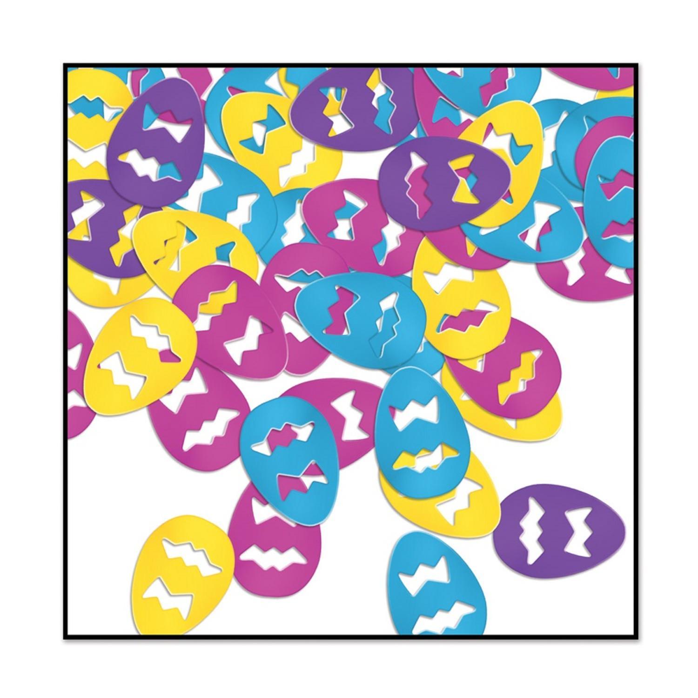 Club Pack of 12 Multi-Colored Fanci-Fetti Easter Egg Celebration Confetti Bags 1 oz.