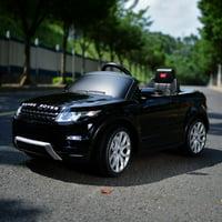 Land Rover 12 volt Ride on power battery car for kids Remote control LED ligths MP3 Engine Sounds New Design - Black