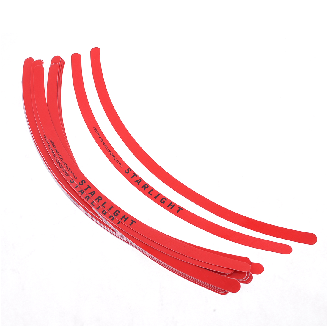Unique Bargains 18 x Red Car Tyre Tire Wheel Rim Tape Adhesive Decal Stickers 11.4""