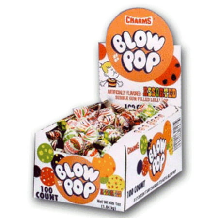 Charms Blow Pops assorted 100 ct (Bins Organic Lollipops)