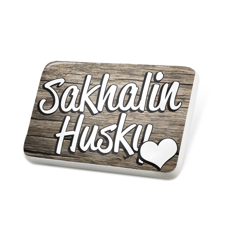 Porcelein Pin Sakhalin Husky, Dog Breed Japan Lapel Badge – NEONBLOND