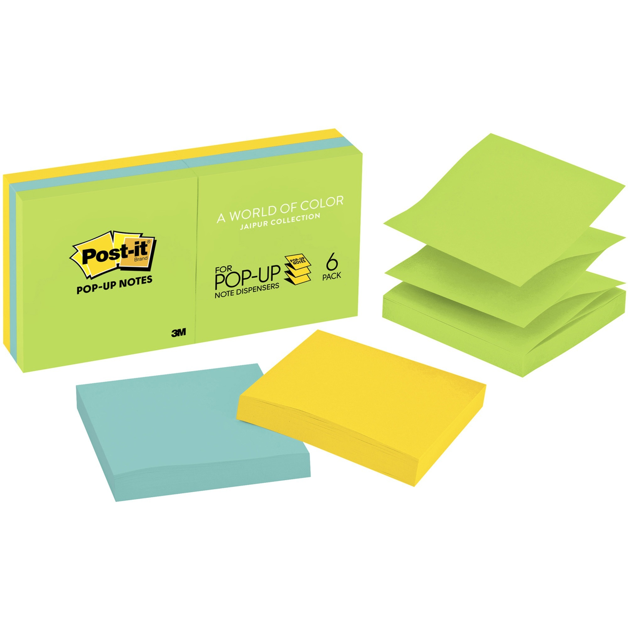 Post It Reg Mmmr330au Pop Up Jaipur Notes Refill 6 Pack Orted