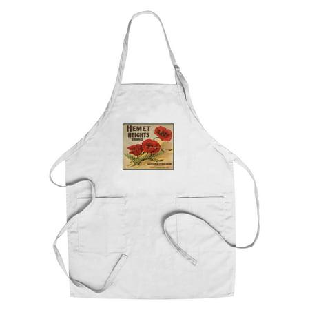 Hemet Heights Brand - Hemet, California - Citrus Crate Label (Cotton/Polyester Chef's Apron) ()