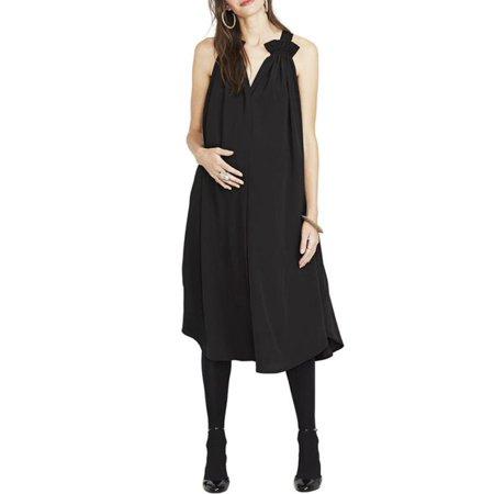 5638e296da VONDA - Maternity Dress V Neck Sleeveless Solid Color Comfy Dresses -  Walmart.com