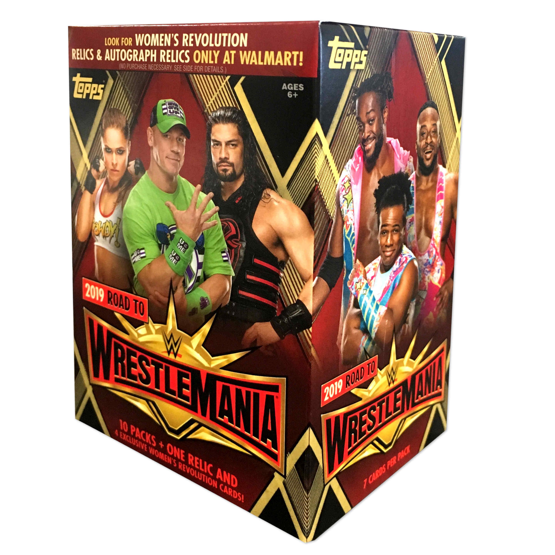 2019 TOPPS WWE ROAD TO WRESTLEMANIA WM VALUE BOX
