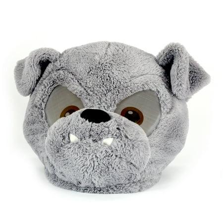 Maskimals Oversized Plush Halloween Mask - Bull Dog