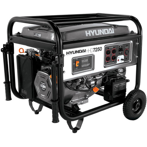 Hyundai HHD7250Ca 7250-Watt Portable Heavy-Duty Power Generator, CARB Approved