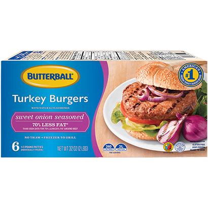 Butterball® Everyday Sweet Onion Seasoned Turkey Burgers