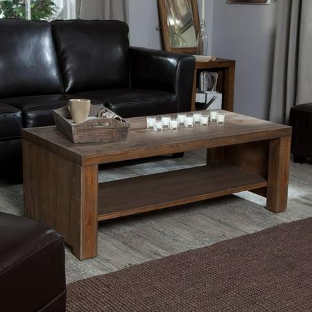 Belham Living Brinfield Rustic Solid Wood Coffee Table
