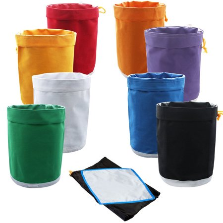 Gckg 1 Gallon 8 Bag Herbal Ice Bubble Hash Essense Extractor Kit Filtration Bags Set With Pressing Screen And Storage